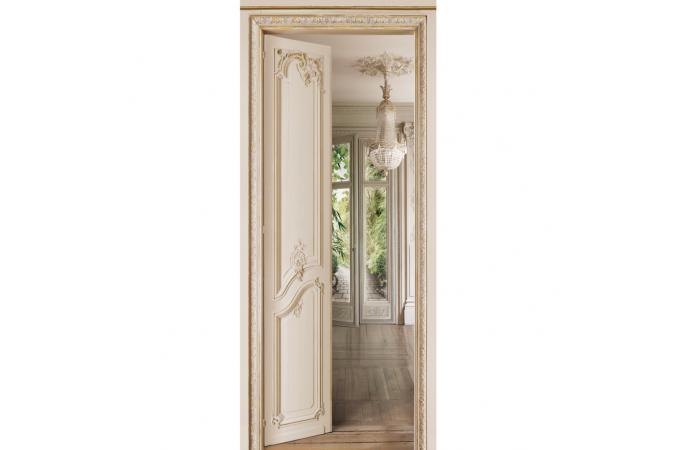 Papier peint jardin beige louis xv papier peint trompe l for Porte trompe l oeil papier peint