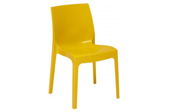 chaise design jaune laqu e lady chaise design pas cher. Black Bedroom Furniture Sets. Home Design Ideas