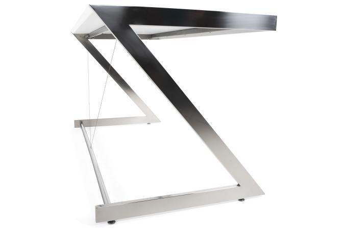 Table de bureau blanc en métal zéphir bureau pas cher