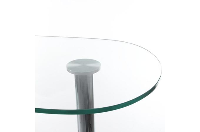 Table bar transparente en verre jimmy table de bar pas cher - Table de bar en verre ...