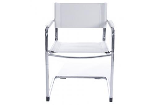 Chaise blanche en métal Dallas