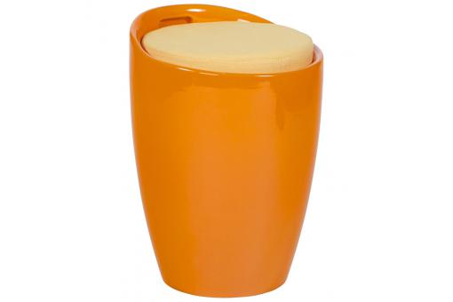Tabouret Tambour orange en ABS Africa