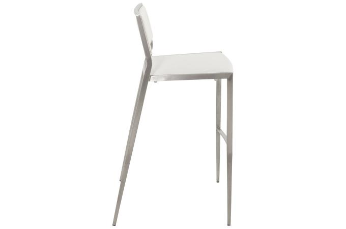 tabouret de bar blanc en inox alexis tabouret de bar pas cher. Black Bedroom Furniture Sets. Home Design Ideas