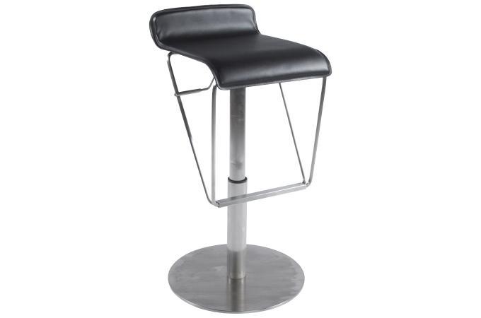 tabouret de bar noir en acier cambridge tabouret de bar pas cher. Black Bedroom Furniture Sets. Home Design Ideas