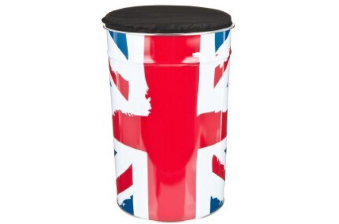 Declikdeco  Coffre de rangement + Pouf 30 L Union Jack