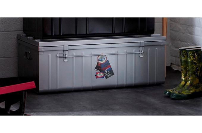 malle de rangement m tal 100x55 cm alu bo te de. Black Bedroom Furniture Sets. Home Design Ideas