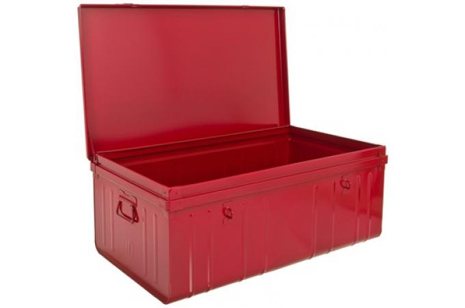 malle de rangement m tal 100x55 cm rouge bo te de. Black Bedroom Furniture Sets. Home Design Ideas