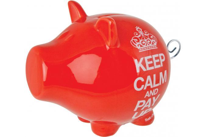 Declikdeco  Tirelire cochon Keep Calm Rouge OINK