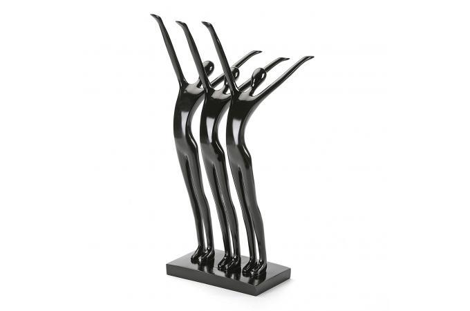 Statue danseurs noire statue design pas cher - Statue exterieur design ...