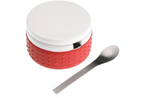 Sucrier rouge en c ramique et cuill re accessoires for Accessoire cuisine rouge