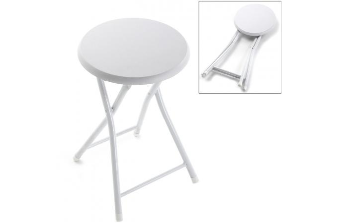 tabouret bain pliable blanc petit tabouret pas cher. Black Bedroom Furniture Sets. Home Design Ideas