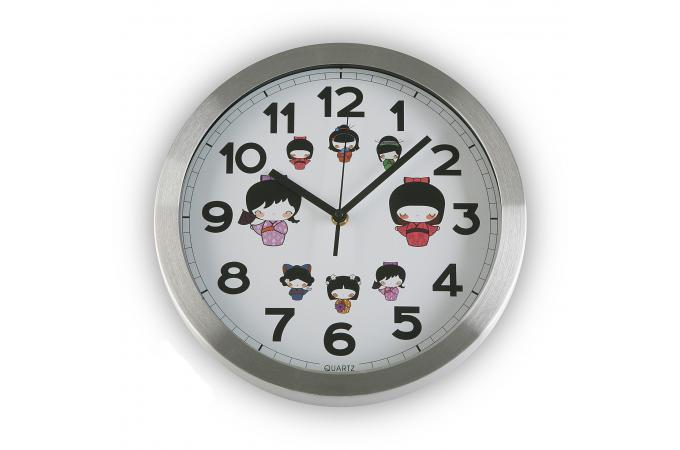 horloge murale argent e geisha horloge design pas cher