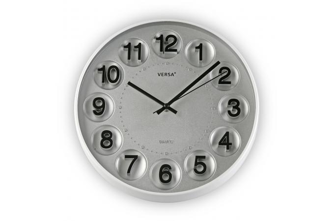 Horloge murale grise horloge design pas cher for Horloge grise