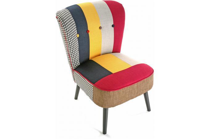 Fauteuil patchwork solid fauteuil design pas cher - Fauteuil patchwork pas cher ...