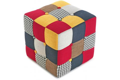 Pouf carré Patchwork SOLID