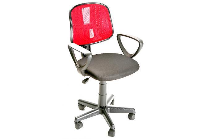 Chaise de bureau rouge 302 found chaise de bureau for Fauteuil bras tablette ikea