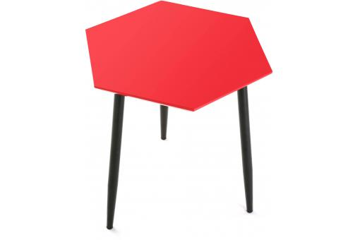 Table d'Appoint Hexagonale Rouge