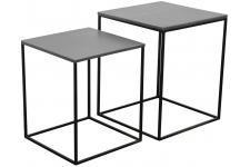 Table d'Appoint Set De 2 Chevets Miles Zinc, deco design