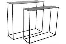 Table d'Appoint Set 2 Consoles Miles Zinc, deco design