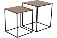 Table d'Appoint Set 2 Chevets Miles Cuivre, deco design
