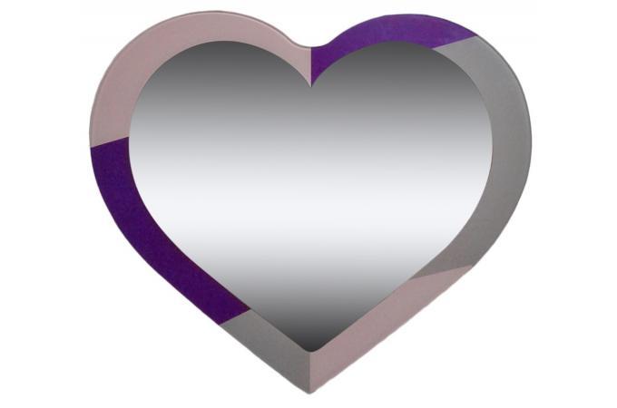 Miroir coeur cadre rose et violet miroir rond et ovale - Petit miroir rond pas cher ...