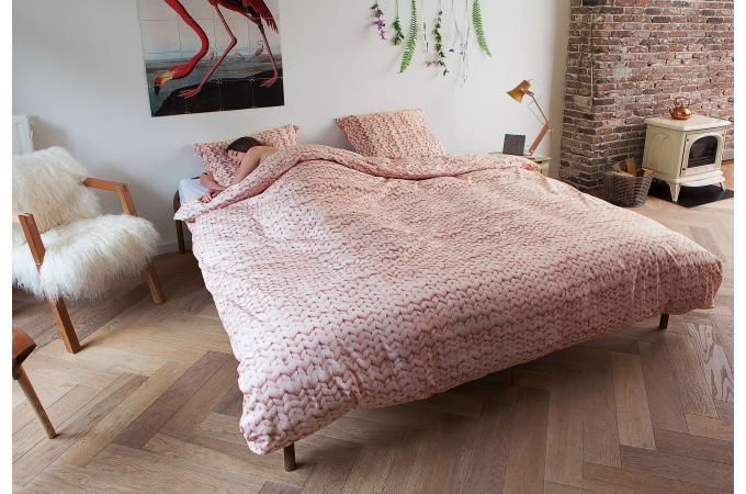 Parure rose coton 220x240 cm et deux taies d 39 oreiller for Housse de couette 220x240 rose