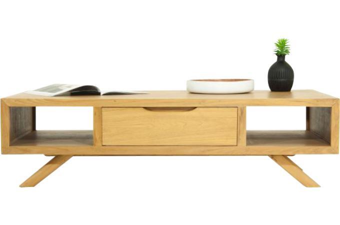 Table basse matteo en teck massif naturel table basse for Table basse en teck massif