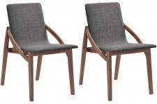 Chaise Design Lot de 2 chaises SENSA en bois hévéa noires, deco design