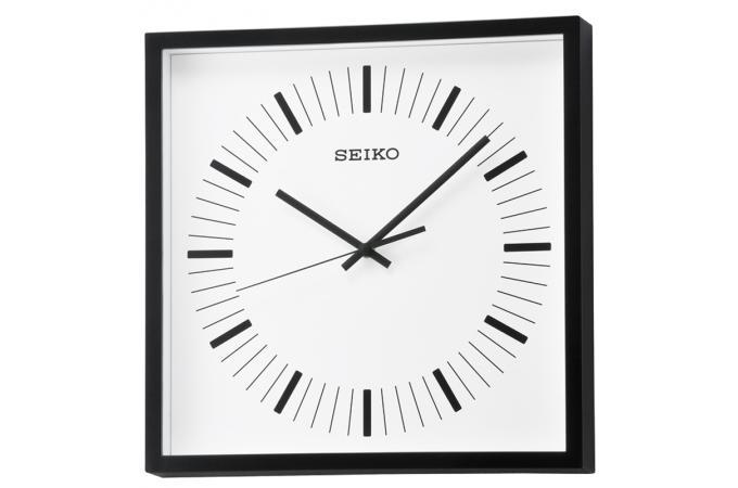 horloge murale carr e noire horloge design pas cher. Black Bedroom Furniture Sets. Home Design Ideas