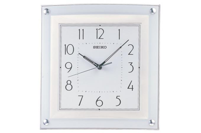 Horloge design carr e blanche horloge design pas cher for Pendule blanche design