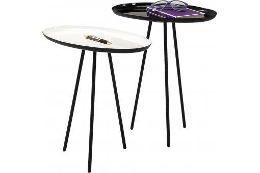 Set de 2 Tables d'appoint Uovo