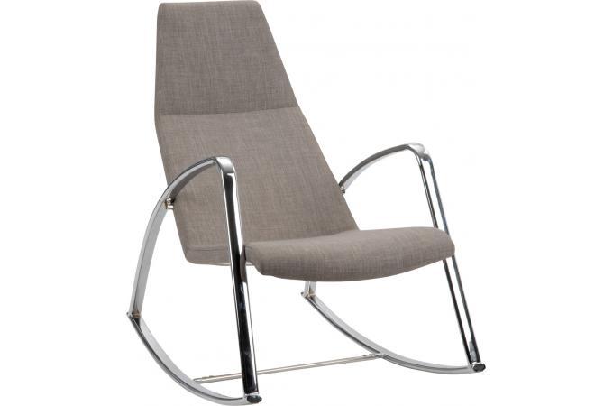 rocking chair beige fonc fauteuil design pas cher. Black Bedroom Furniture Sets. Home Design Ideas