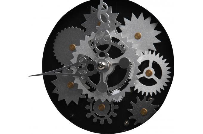 horloge noire m canique horloge design pas cher. Black Bedroom Furniture Sets. Home Design Ideas