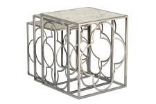 DeclikDeco - Lot de 3 tables gigognes Gris en Nickel JERRY - Nouveautes deco design