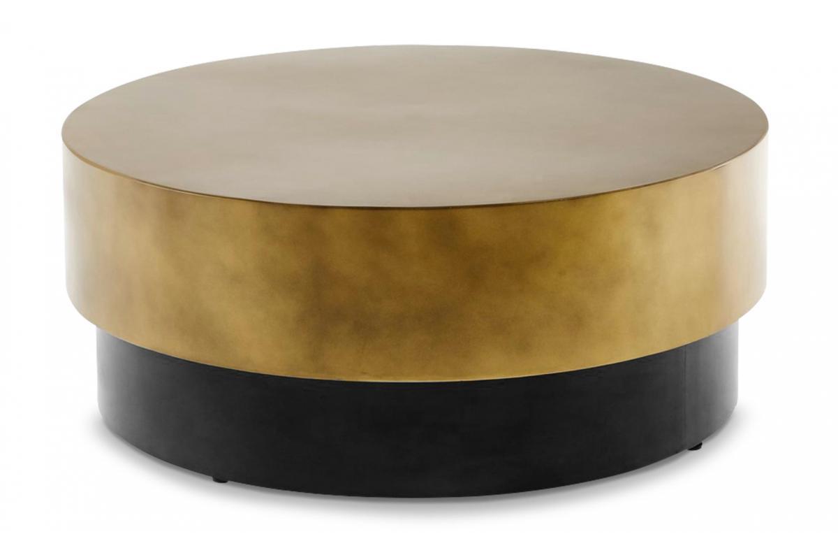 Table Basse Ronde En Metal Couleur Or Nola Table Basse Pas Cher