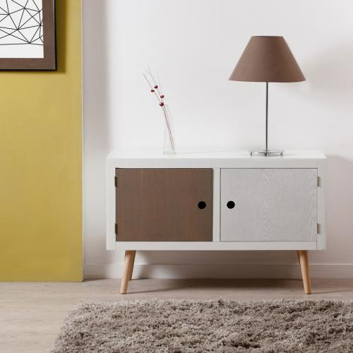 Buffet 2 portes Multicolore IRIS - Salon meuble deco
