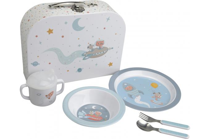 coffret repas pour enfants bleu arthur accessoires cuisine sali re gant pas cher. Black Bedroom Furniture Sets. Home Design Ideas
