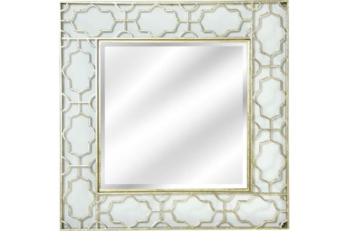 Miroir mural carr orient 90 5 x 90 5 x 4 cm miroir for Miroir carre pas cher
