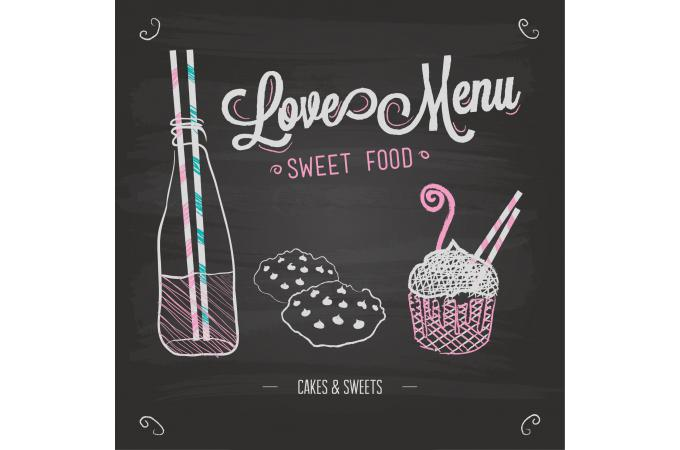 Tableau Gourmand Loves Menu 60X60