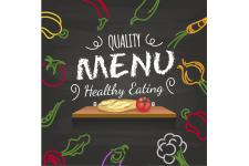 Tableau Gourmand Menu Healthy Eating 60X60 - Tableau citation