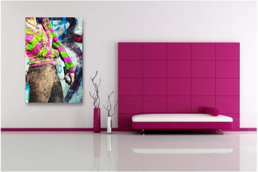 Tableau Pop Art multicolore