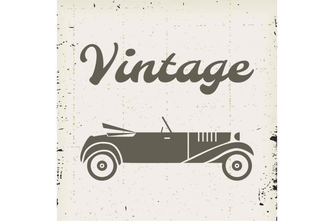 tableau retro voiture vintage 50x50 tableau retro pas cher. Black Bedroom Furniture Sets. Home Design Ideas