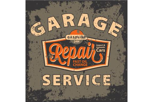 Tableau Vintage Garage Repair Service 50X50