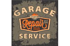 Tableau Vintage Garage Repair Service 60X60