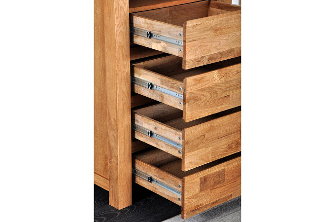 chiffonnier 4 tiroirs en ch ne massif india meuble de rangement pas cher. Black Bedroom Furniture Sets. Home Design Ideas