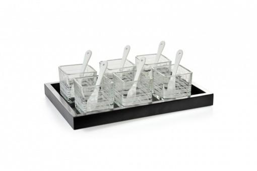 set ap ritif 12 pi ces en verre accessoires pas cher. Black Bedroom Furniture Sets. Home Design Ideas