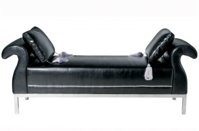 banquette simili cuir noir rockstar banquette m ridienne pas cher. Black Bedroom Furniture Sets. Home Design Ideas
