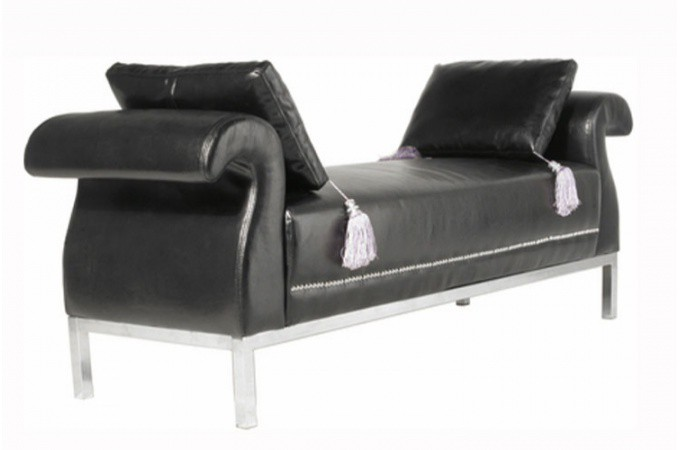banquette simili cuir noir rockstar banquette m ridienne pas cher. Black Bedroom Furniture Sets. Home Design Ideas