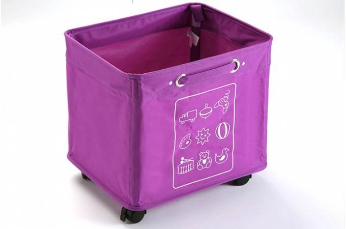 panier de rangement roulette violet pas cher. Black Bedroom Furniture Sets. Home Design Ideas