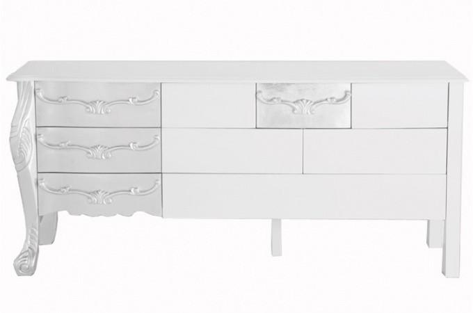 Buffet baroque Kare Design argent et blanc laqué, deco design KARE ...